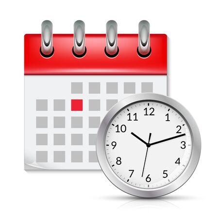 Calendar icon with month time symbol. Flat agenda day reminder event calendar design button
