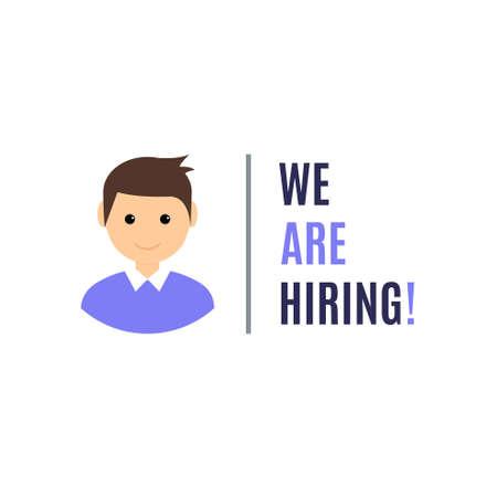 Hiring audience recruitment customer client. Job recruit hire vector concept