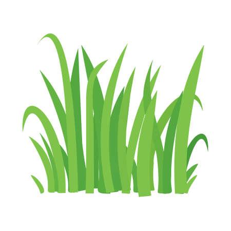 Grass vector cartoon texture. Grass field shape green silhouette plant bush