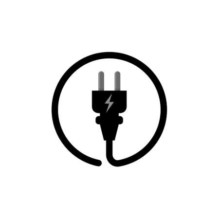 Electric Plug connect concept socket. Get connected or disconnect vector power plug cable illustration