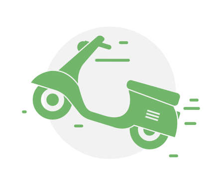 Delivery motorbike logo icon. Scooter bike vector icon