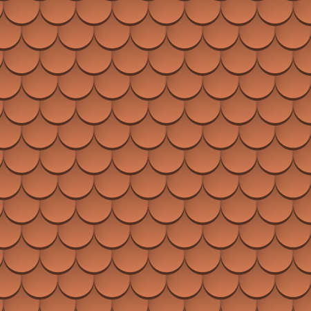 Roof tile vector texture pattern. Rooftop terracota tile