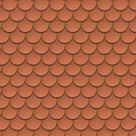 Roof tile vector texture pattern. Rooftop terracota tile Stock Illustratie
