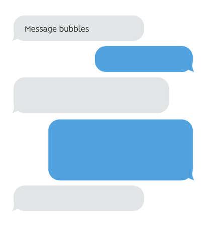 Message bubble chat conversation box. Text sms messenger speech balloon vector interface