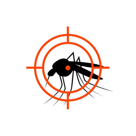 Repellent mosquito stop aim sign icon. Malaria pest insect anti mosquito warning symbol