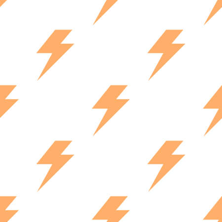 Lightning bolt flash seamless pattern. Thunderbolt print background Ilustracja