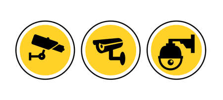 CCTV camera icon vector security video sign. cctv symbol silhouette safety system icon logo Ilustracja