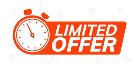 Super limited offer clock time icon. Promo price period last minute offer promotion