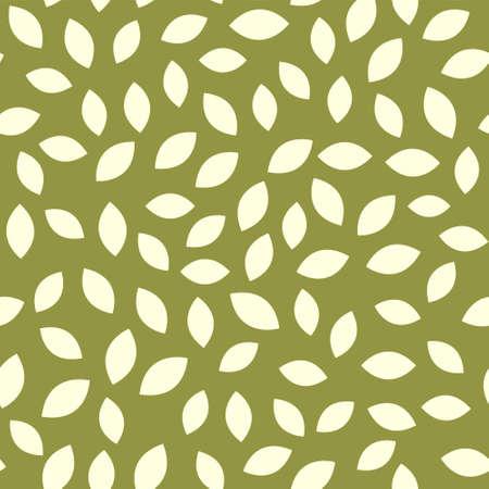 Leaf seamless pattern vector plant background. Nature flat leaf herb green soft vine pattern 矢量图像