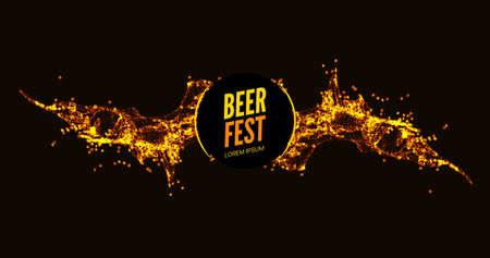 Beer background splash abstract vector flow advertising beverage Ilustracja