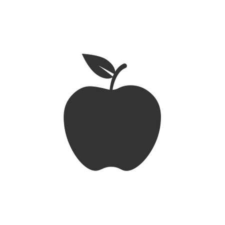 Apple vector icon. Apple nutrition eat healthy pictogram