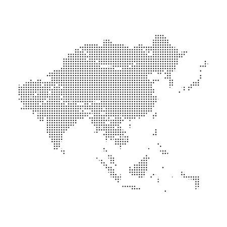 Europe pixel vector map. Square dot pixel Europe map background Vetores