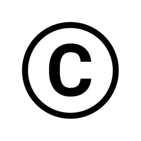 Copyright symbol icon vector. Copyright sign isolated icon trademark Ilustración de vector