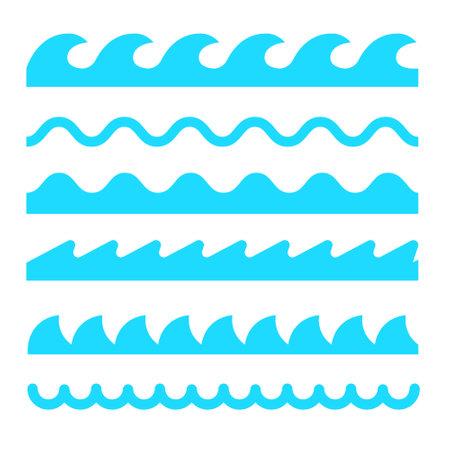 Wave icon vector line sea ocean water simple element illustration. Wave water icon symbol