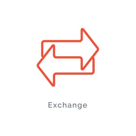 Exchange arrow icon, reverse swap vector switch flip. Exchange data symbol icon 向量圖像