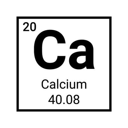 Calcium chemical element table icon. Periodic symbol Calcium vector icon