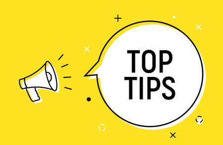 Top tips quick trick reminder advice business icon. Top tip helpful information 向量圖像