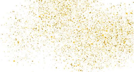 Glitter gold background sparkle dust vector confetti explosion. Golden glitter dust pattern 向量圖像