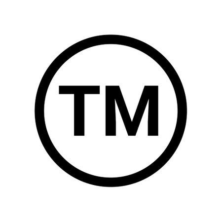 Trademark tm sign logo symbol. Copyright TM sign trade mark vector logo