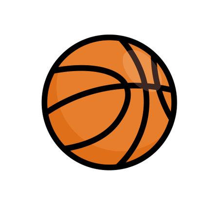Basketball ball vector icon. Basket ball logo illustration flat isolated design orange minimal symbol 向量圖像