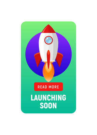Launching soon marketing store template. Coming soon announcement flyer banner.
