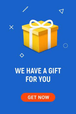 Gift box open explosive present vector illustration. Open gift box banner background