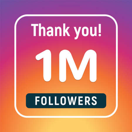 Thank you 1 million followers congratulation subscribe. 1m like follow anniversary 向量圖像