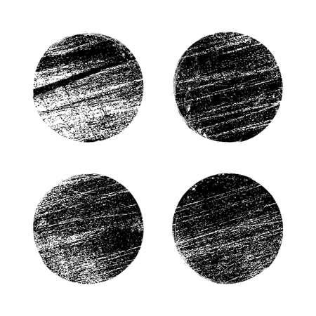Grunge texture brush stamp vector circle dot. Rubber graphic grunge stamp vintage background 向量圖像