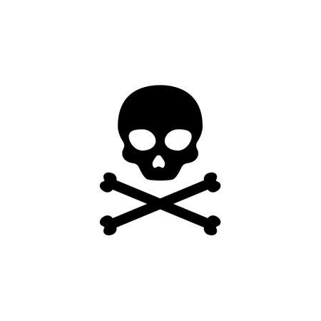 Skull death vector cross pirate dead black bone head danger 向量圖像