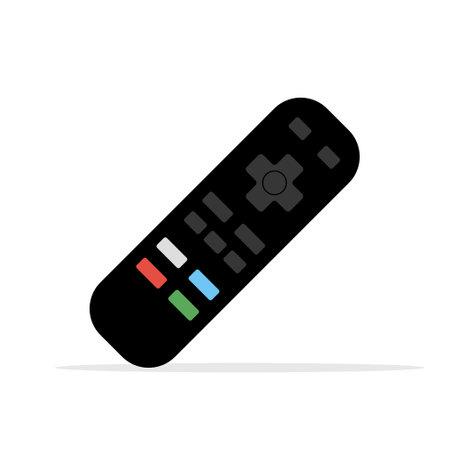 Remote control tv icon. Flat vector remote control video modern design device