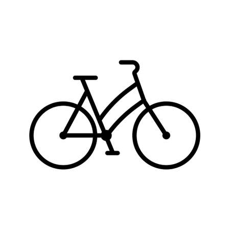 Bike vector web sport line icon. Bicycle sign mountain illustration pictogram symbol