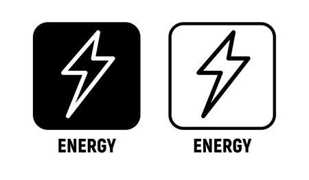Energy vector icon bolt lighting power electric battery 向量圖像