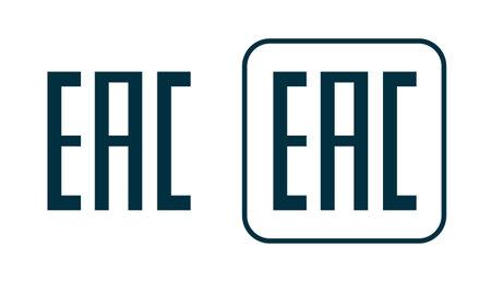 EAC icon. Aurasian conformity made symbol. Kazakhstan mark eurasian union EAC design pictogram