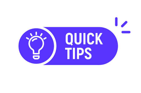 Quick tip hint vector icon bulb. Fact tip idea line icon guide