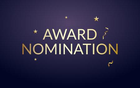 Award nomination background golden film movie vector ceremony poster
