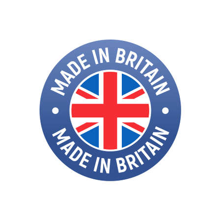 Made in UK Britain flag . English brand sticker made in Britain vector stamp 向量圖像