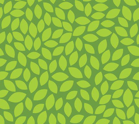 Leaf seamless pattern vector plant background. Nature flat leaf herb green soft vine pattern 向量圖像