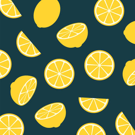 Lemon citrus fruit food summer texture seamless background. Lemon yellow print abstract
