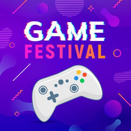 Video game poster, control joystick, Controller videogame design