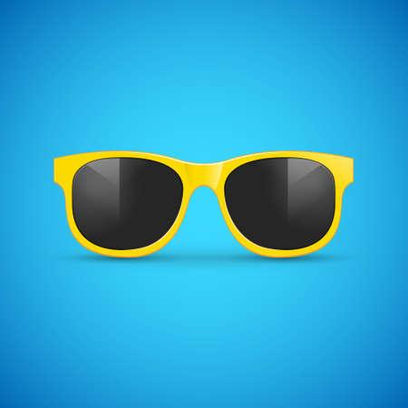 Vector sunglasses. Eyeglasses hipster fashion illustration for summer
