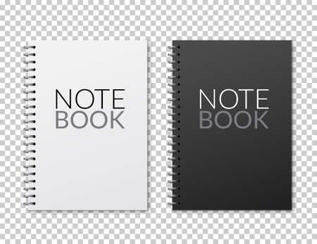 Realistic vector notebook design. Diary blank office document. Note book sheet 向量圖像