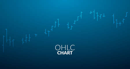 OHLC chart business line stick analytics graph infographic