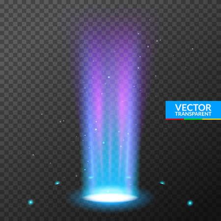 Hologram portal magic podium effect. Circle light ray teleport ufo portal