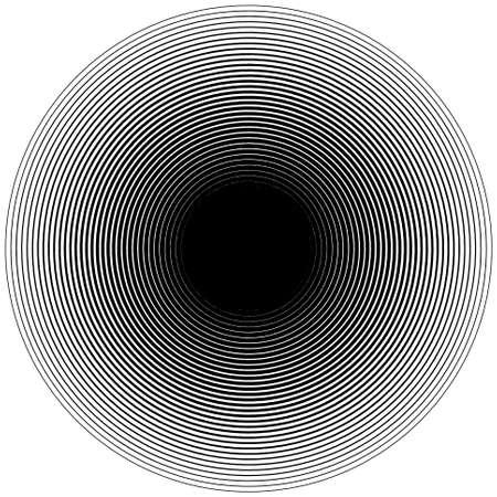 Ripple circle halftone background pattern, abstract vector circular