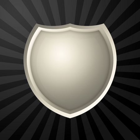 Metal blank icon over rays background Stock Photo