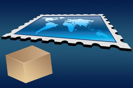 Delivery world wide Stock Photo