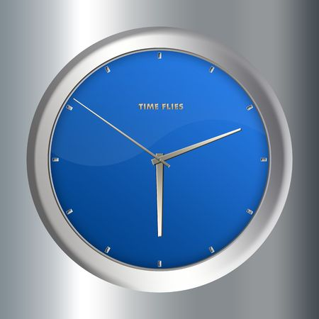 Concept image - Clock with  Stock Photo