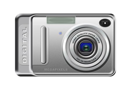 Picture icon - Digital camera isolated on white