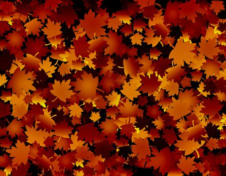 Autumn fall background with golden leaves Stock Photo