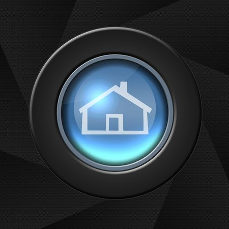 Home icon with border over aperture style background